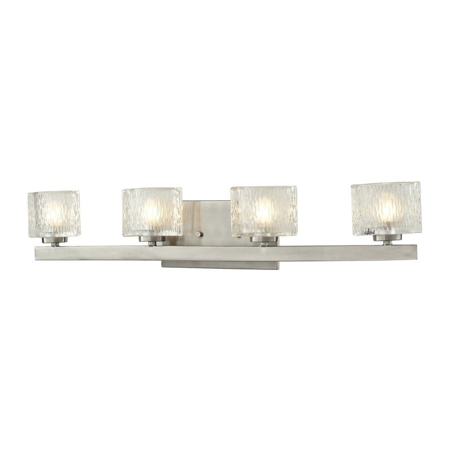 4 Light Brushed Nickel Vanity Lights : Shop Z-Lite Rai 4-Light Brushed Nickel Oval Vanity Light at Lowes.com