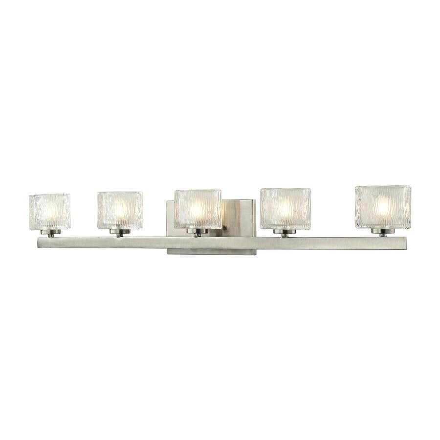 Z-Lite Rai 5-Light Brushed Nickel Oval Vanity Light