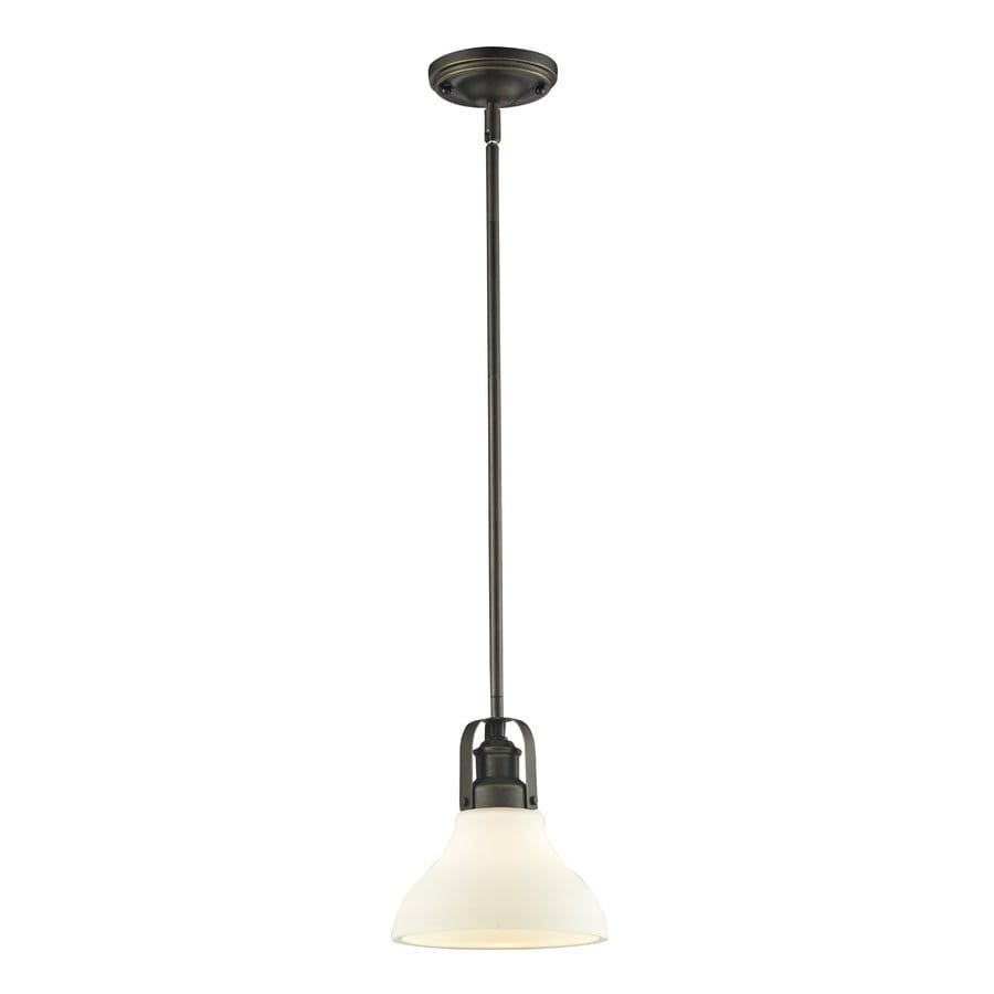 Z-Lite Forge 7.5-in Vintage Bronze Industrial Mini Bell Pendant