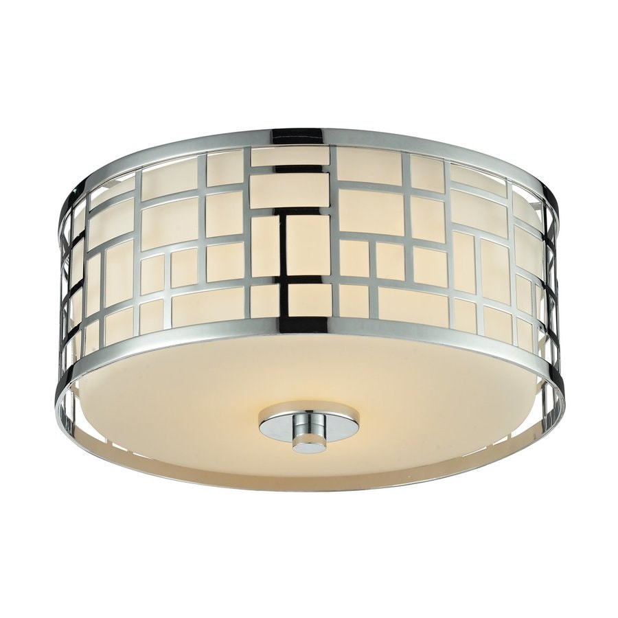 Z-Lite Elea 11.75-in W Chrome Flush Mount Light