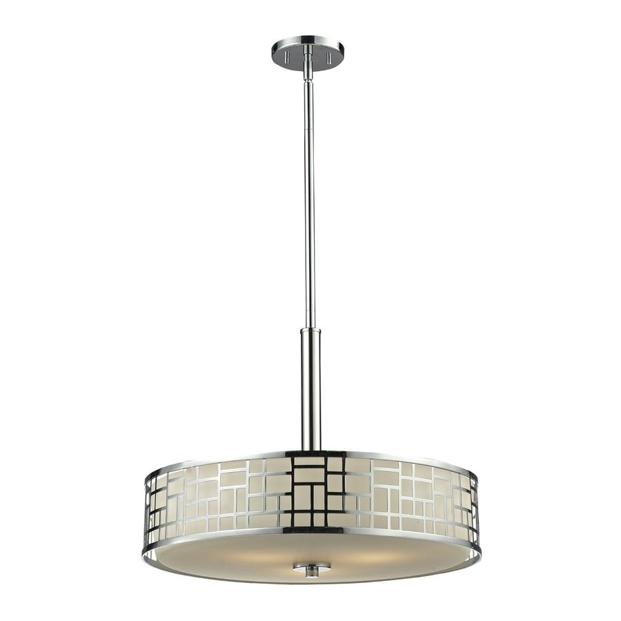 Z-Lite Elea 20.5-in Chrome Single Drum Pendant