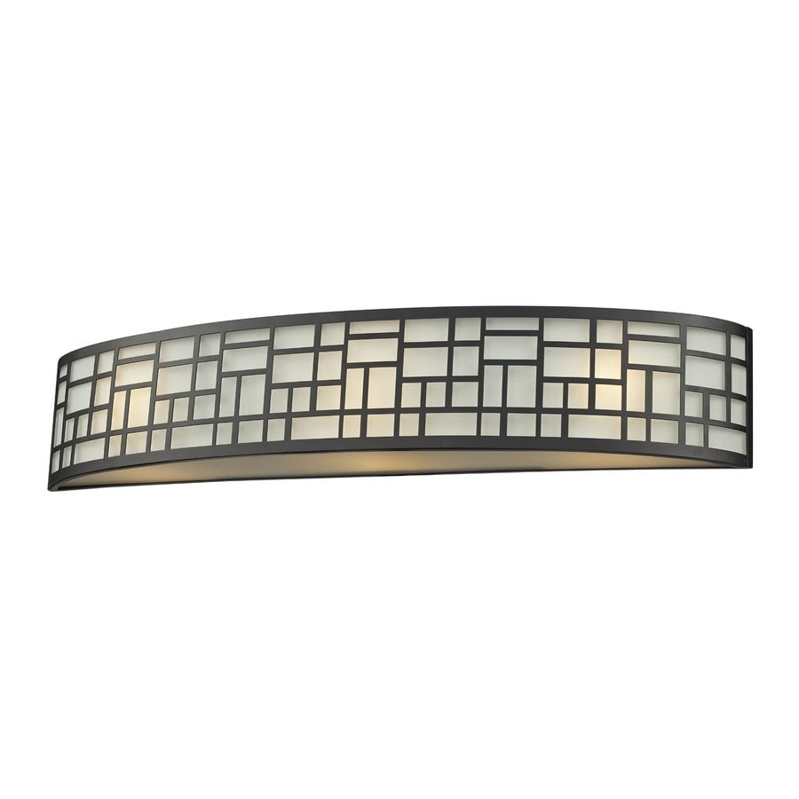 Z-Lite Elea 1-Light 4.75-in Bronze Rectangle Vanity Light Bar