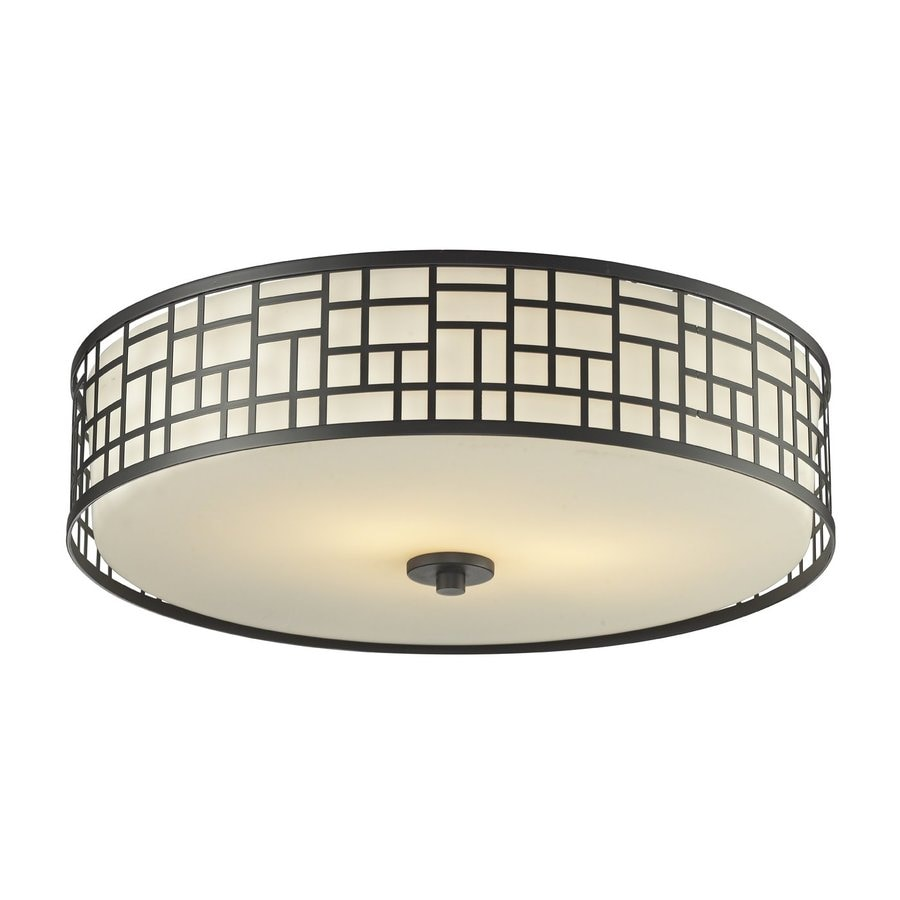 Z-Lite Elea 20.5-in W Bronze Flush Mount Light