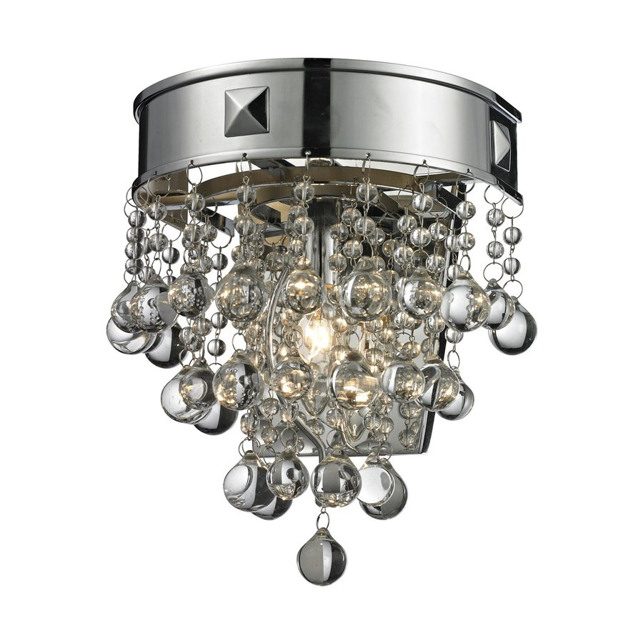 Z-Lite Iluva 8.5-in W 1-Light Chrome Crystal Pocket Wall Sconce