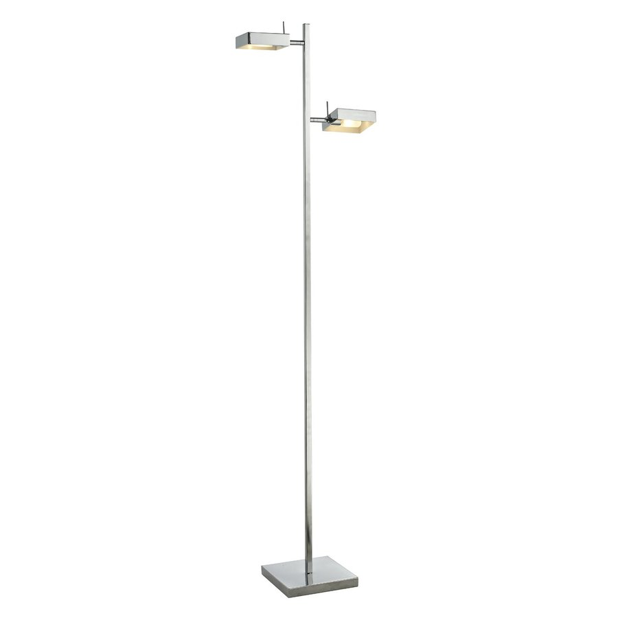 Z-Lite Ofuse 58.87-in Chrome Indoor Floor Lamp with Metal Shades