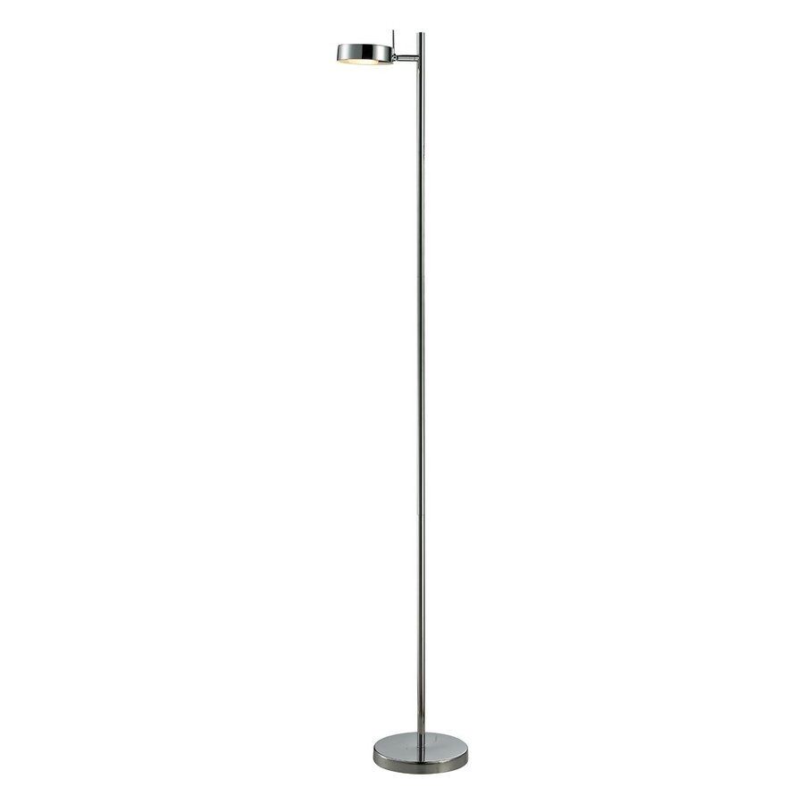 Z-Lite Ofuse 58.87-in Chrome Indoor Floor Lamp with Metal Shade
