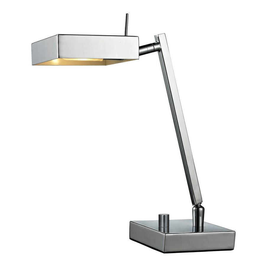 Z-Lite Ofuse 12.12-in Adjustable Chrome Desk Lamp with Metal Shade