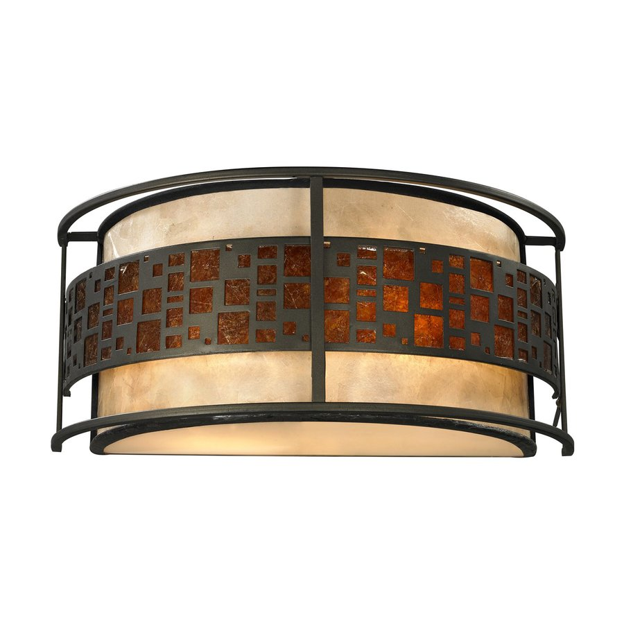 Z-Lite Milan 14-in W 1-Light Java Bronze Pocket Wall Sconce