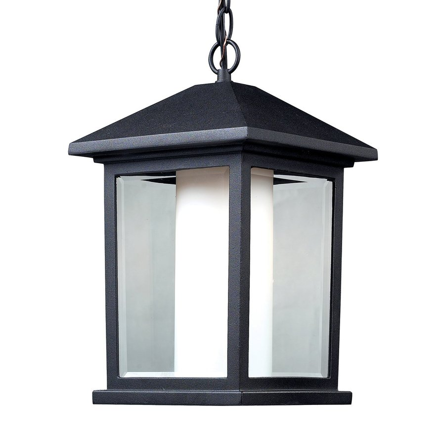 Z-Lite Mesa 15.5-in H Black Outdoor Pendant Light