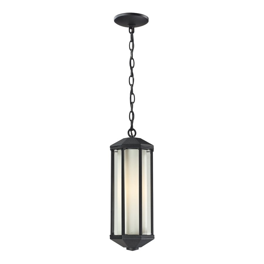 Z-Lite Cylex 16.8-in H Black Outdoor Pendant Light