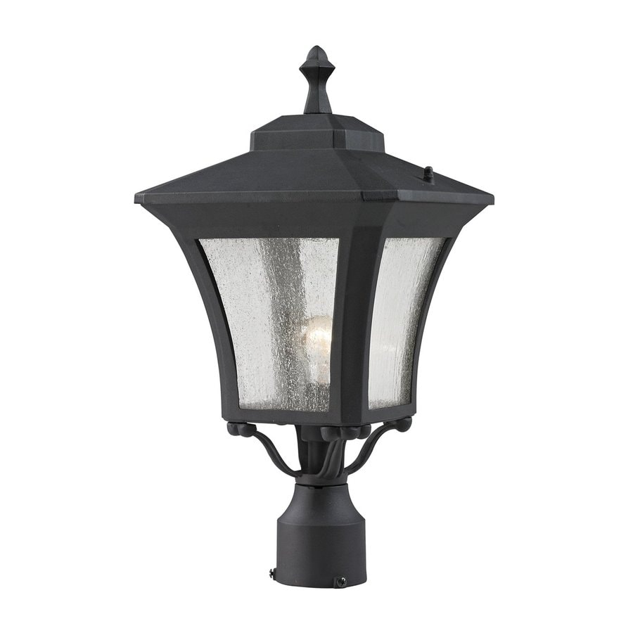 Z-Lite Waterdown 19-in H Sand Black Post Light