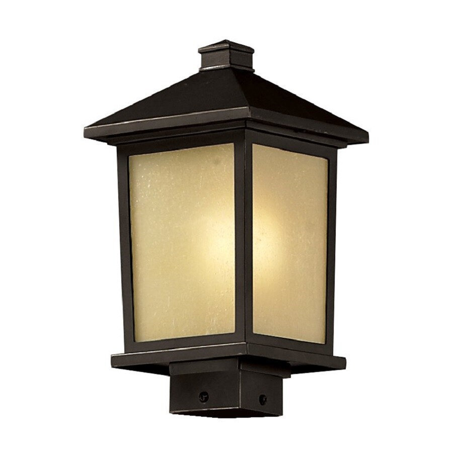 Z-Lite Holbrook 14.25-in H Oil-Rubbed Bronze Post Light