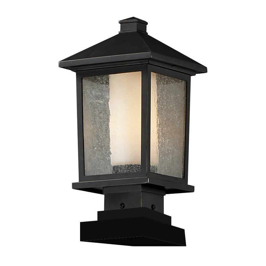 Z-Lite Mesa 16.25-in H Oil-Rubbed Bronze Pier-Mount Light