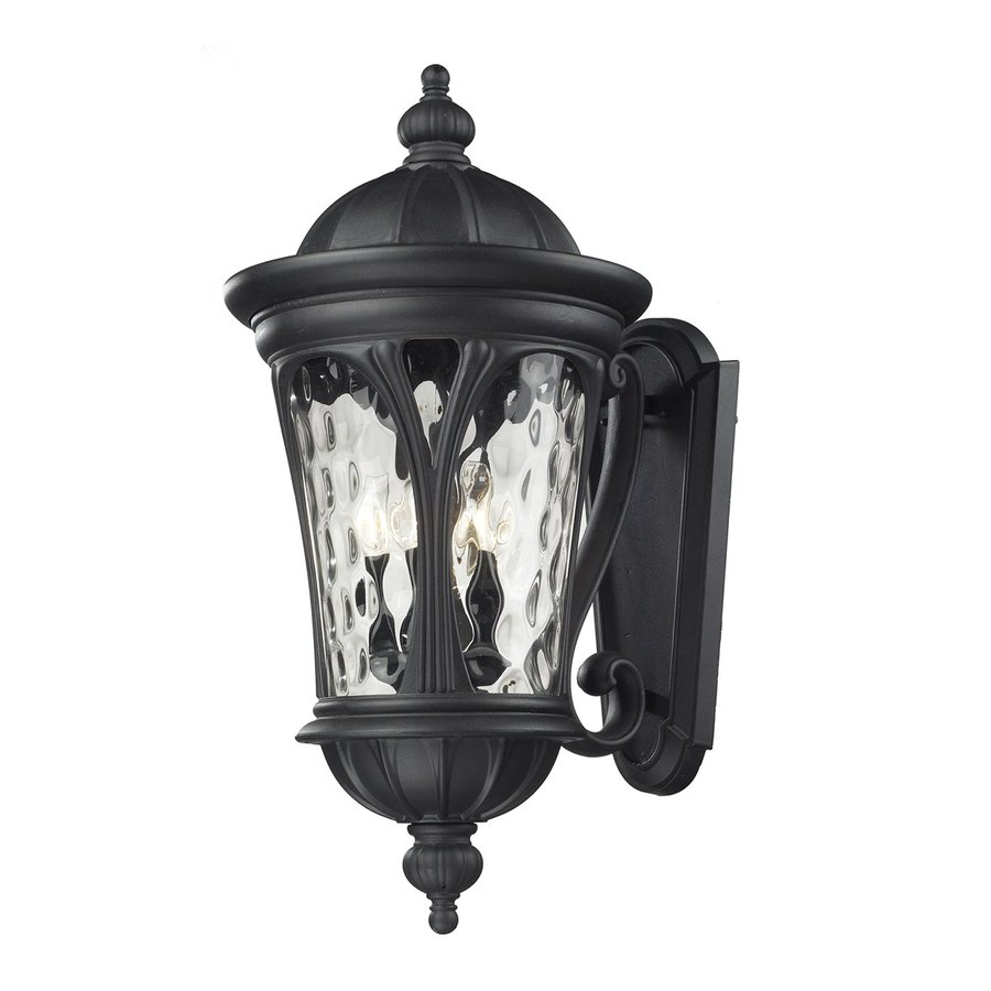 Z-Lite Doma 28.75-in H Sand Black Outdoor Wall Light
