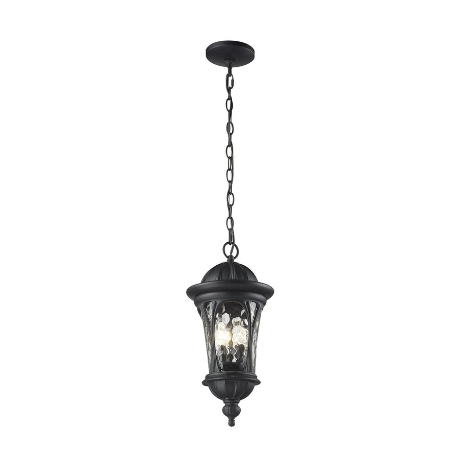Z-Lite Doma 19.5-in H Sand Black Outdoor Pendant Light