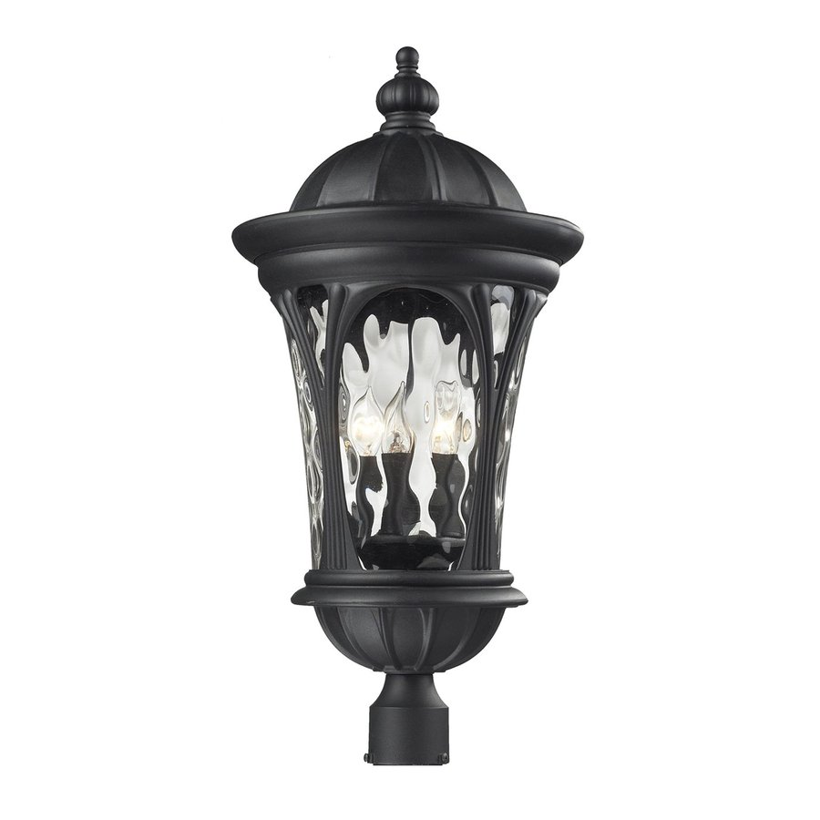 Z-Lite Doma 28-in H Sand Black Post Light