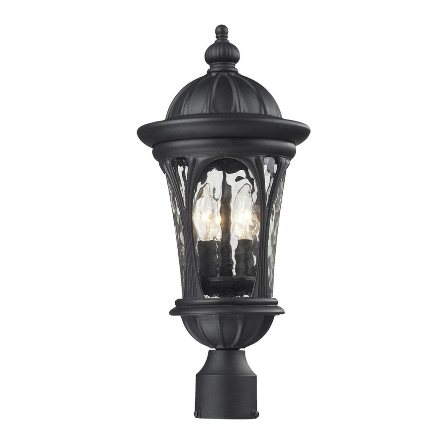Z-Lite Doma 20.25-in H Sand Black Post Light