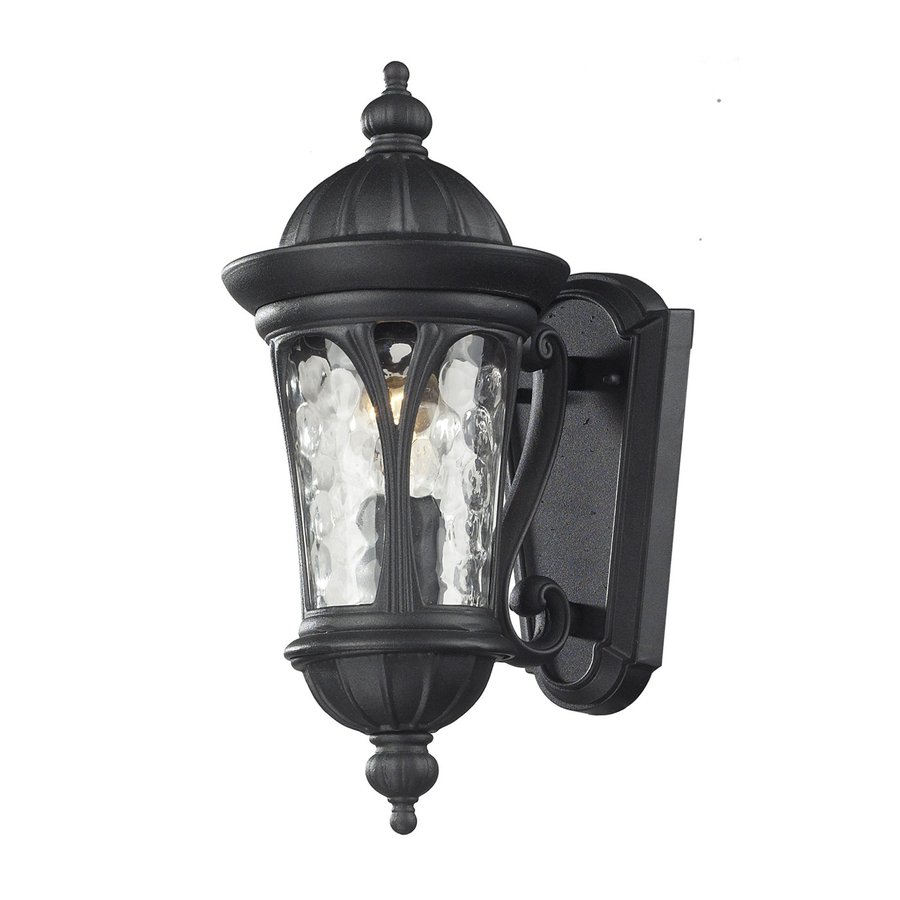 Z-Lite Doma 14-in H Sand Black Outdoor Wall Light