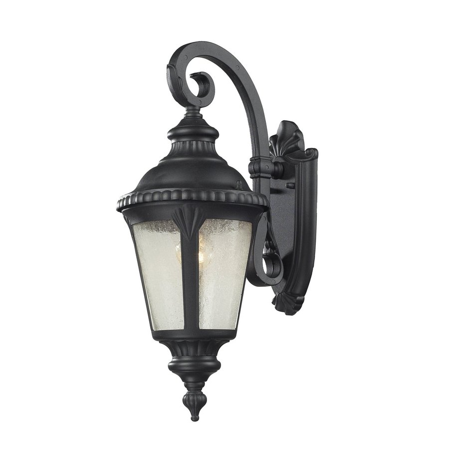 Z-Lite Medow 19.625-in H Sand Black Outdoor Wall Light