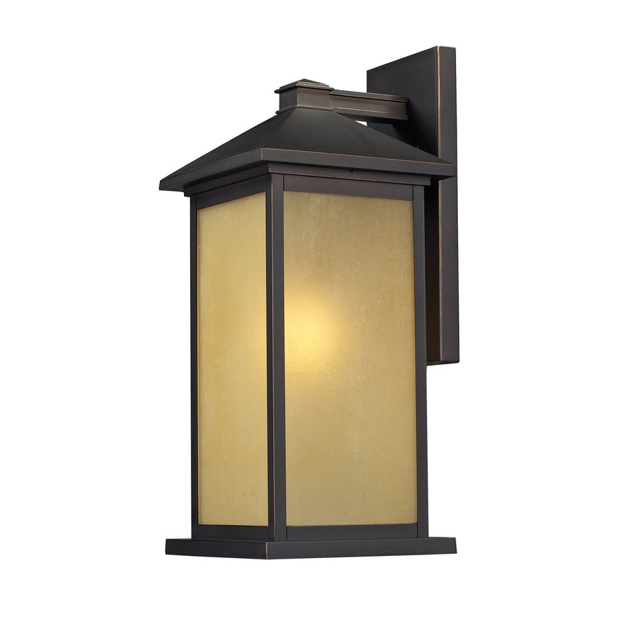 Z-Lite Vienna 18-in H Oil-Rubbed Bronze Outdoor Wall Light