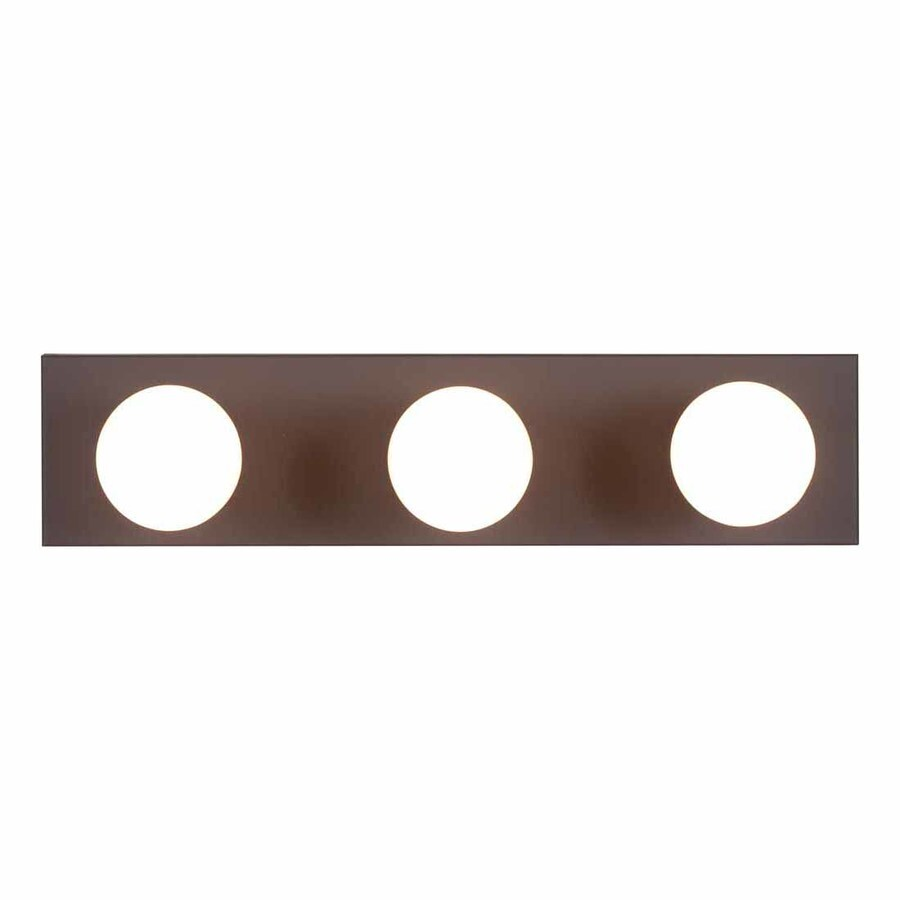 Volume International 3-Light 4.5-in Antique Bronze Rectangle Vanity Light Bar