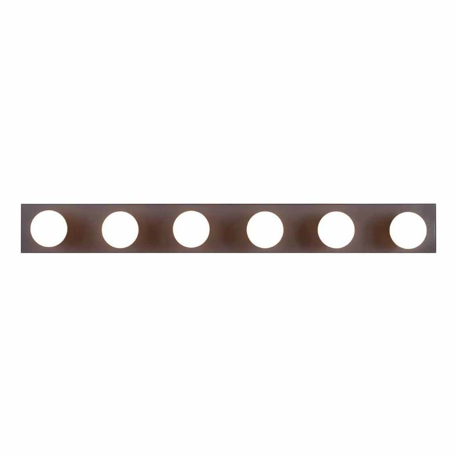 Volume International 6-Light 4.5-in Antique Bronze Rectangle Vanity Light Bar