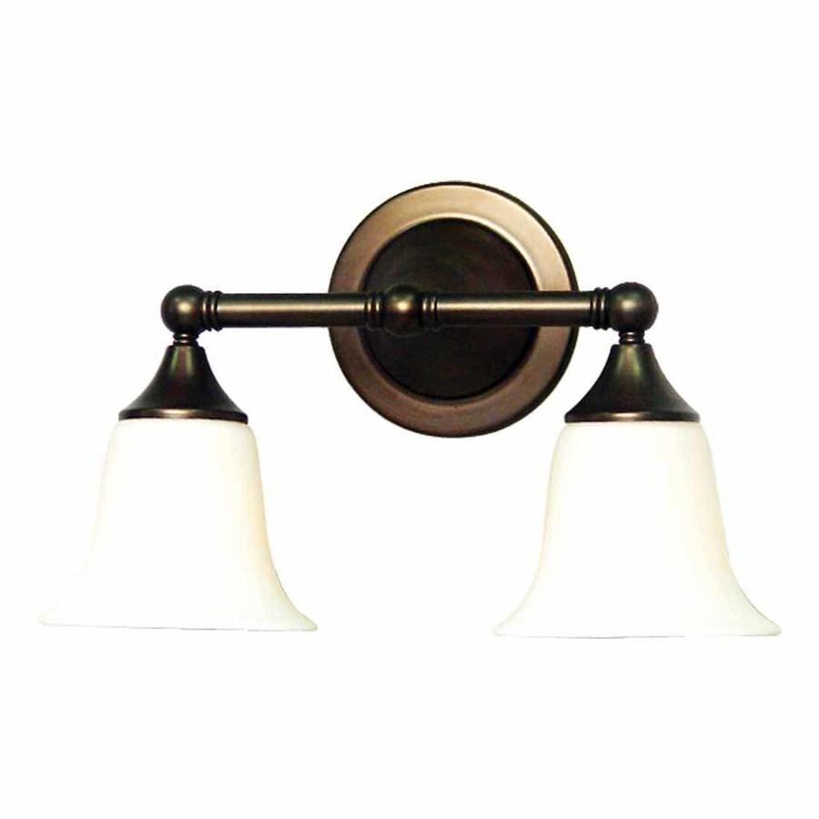 Volume International 2-Light 9.25-in Florence Bronze Bell Vanity Light