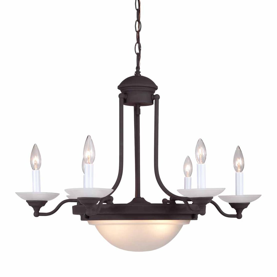 Volume International 28-in 8-Light Antique bronze Mediterranean Candle Chandelier