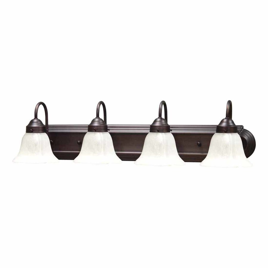 Volume International Marti 4-Light 8-in Florence Bronze Bell Vanity Light