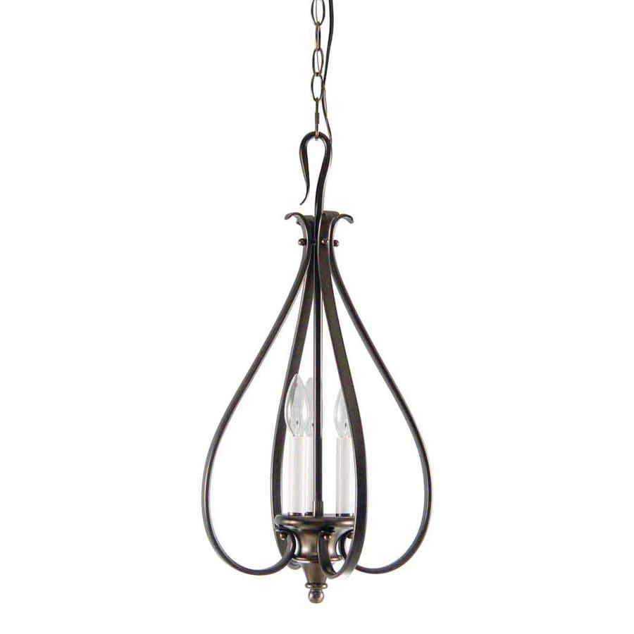 Volume International Austin 12.25-in Florence Bronze Vintage Single Lantern Pendant