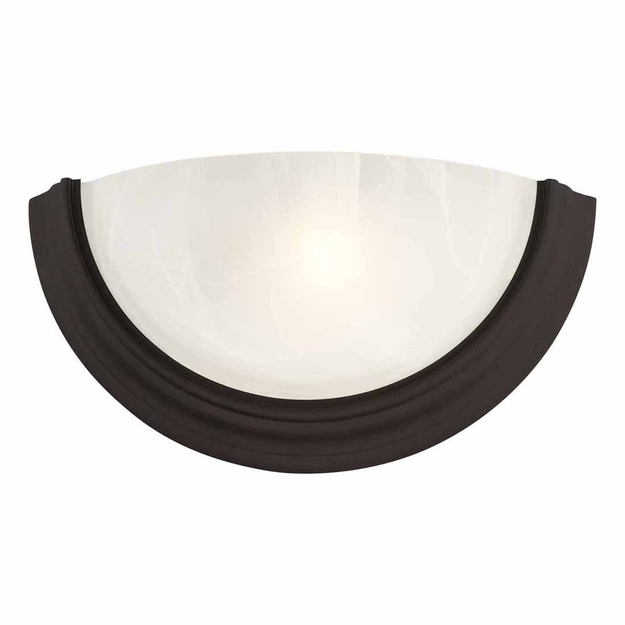 Volume International Lunar 14.75-in W 1-Light Antique Bronze Pocket Wall Sconce
