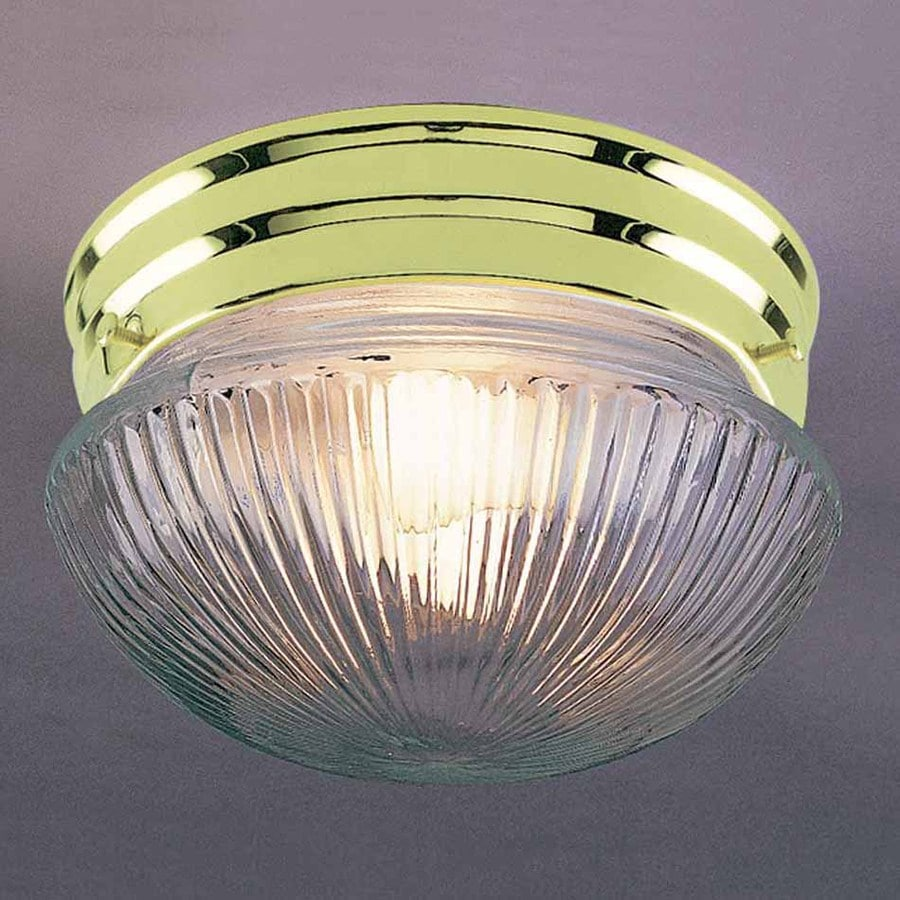 Volume International 7-in W Polished Brass Ceiling Flush Mount Light