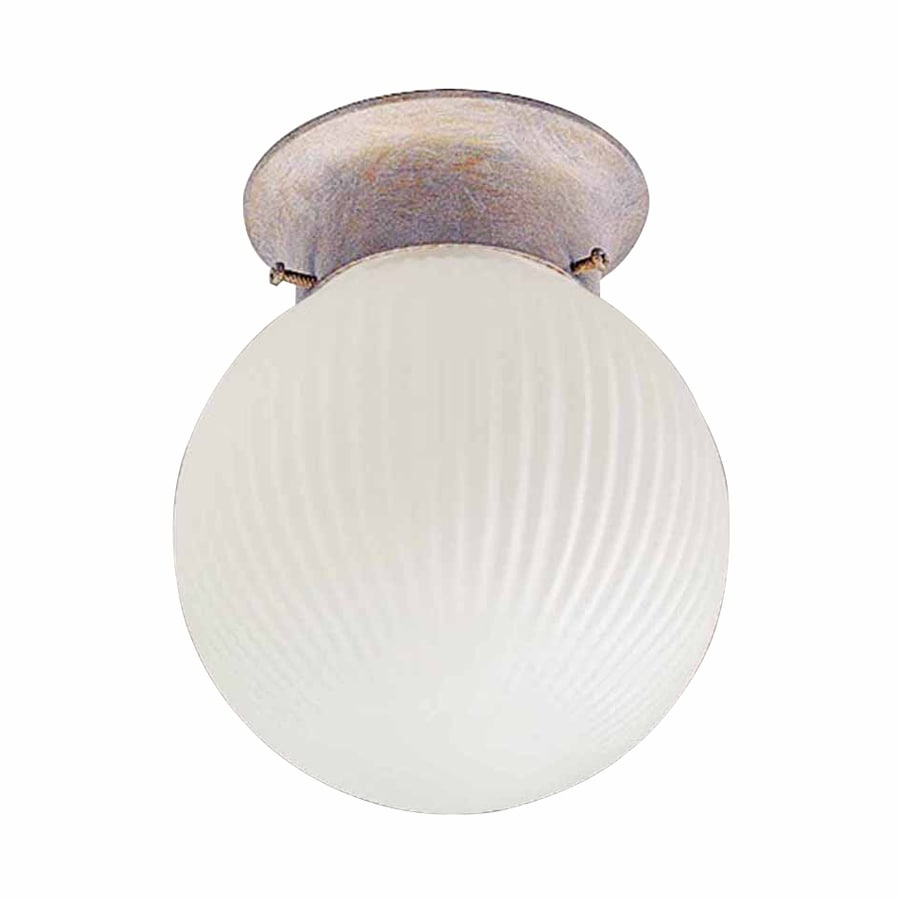 Volume International Roth 6-in W Prairie rock Flush Mount Light