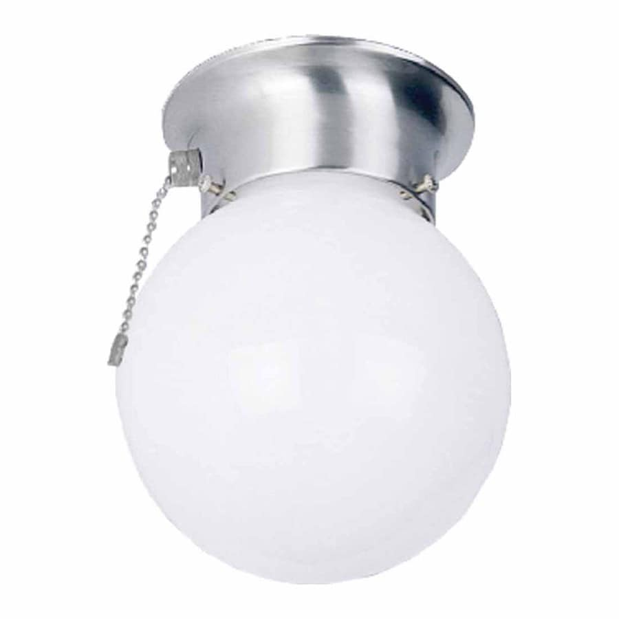 Volume International 6-in W Brushed Nickel Ceiling Flush Mount Light