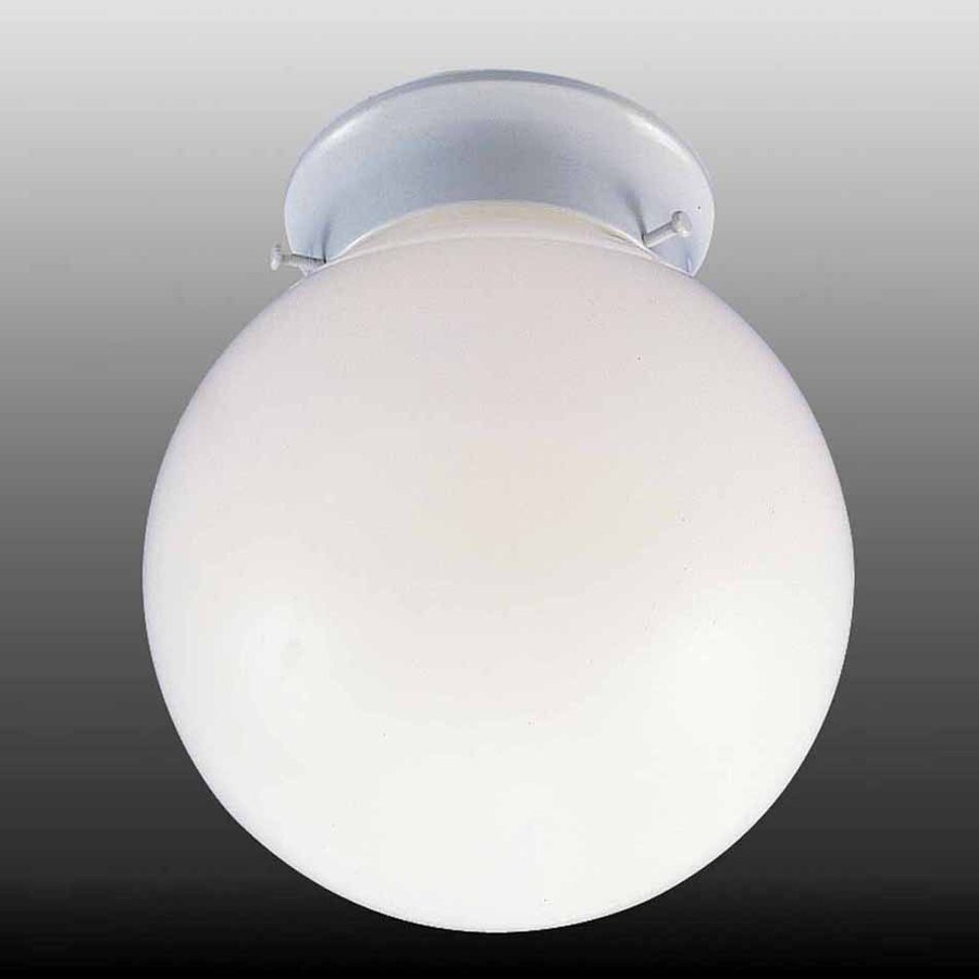 Volume International 8-in W White Flush Mount Light