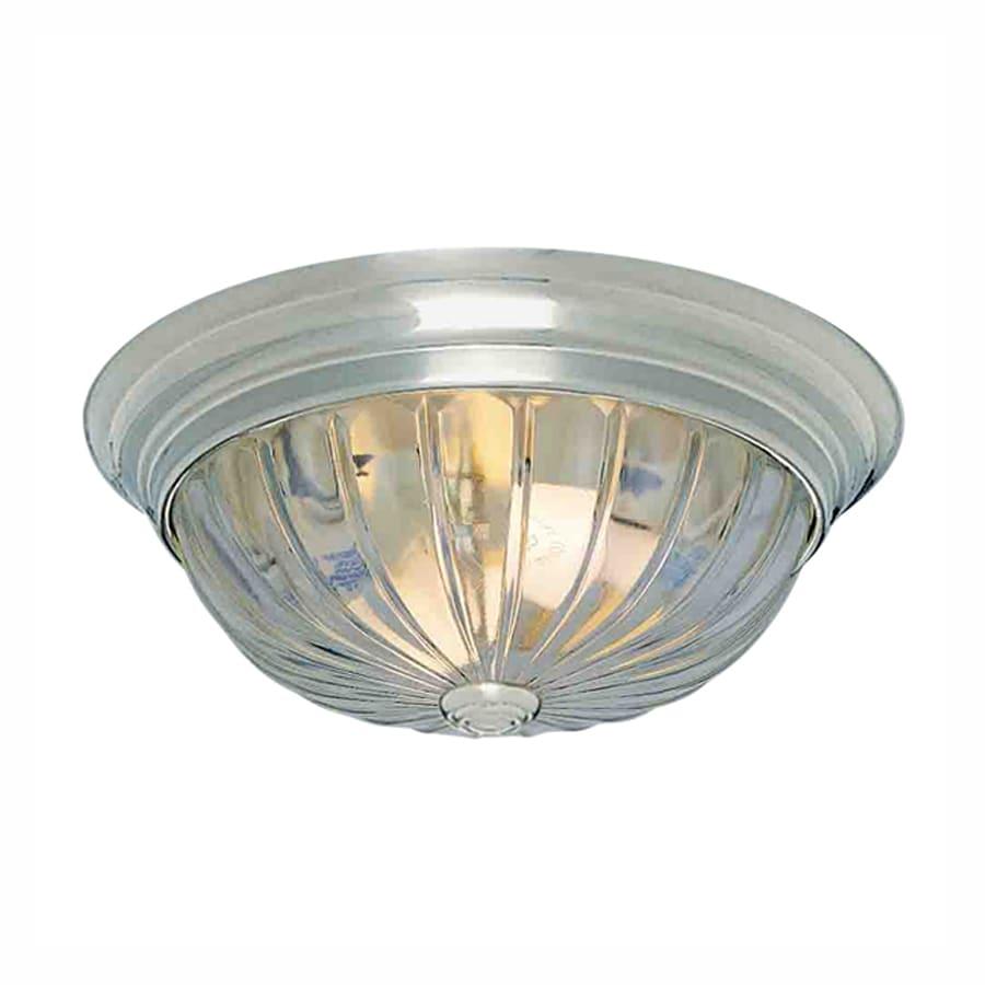 Volume International 13-in W Brushed Nickel Flush Mount Light