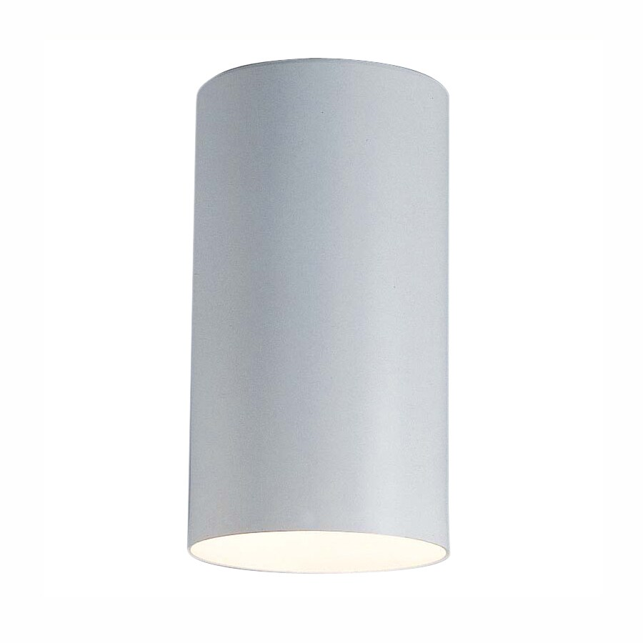 Volume International 4.5-in W White Flush Mount Light