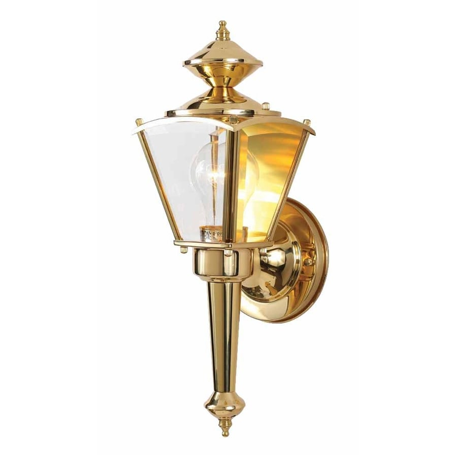 Volume International 15-in H Polished Brass Outdoor Wall Light