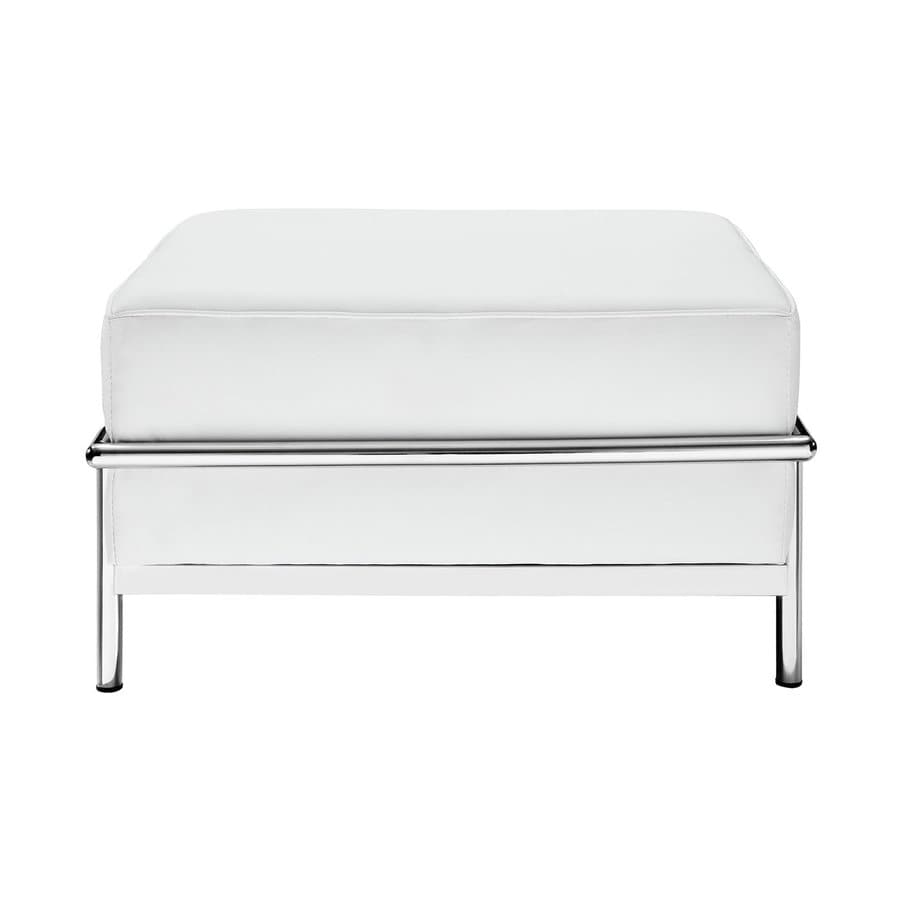 Modway Charles Grande White Rectangle Ottoman