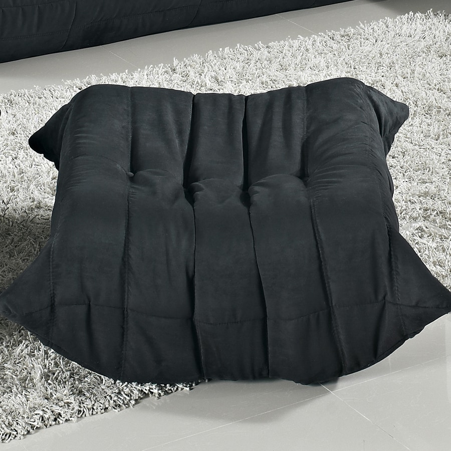 Modway Waverunner Wave Black Rectangle Ottoman
