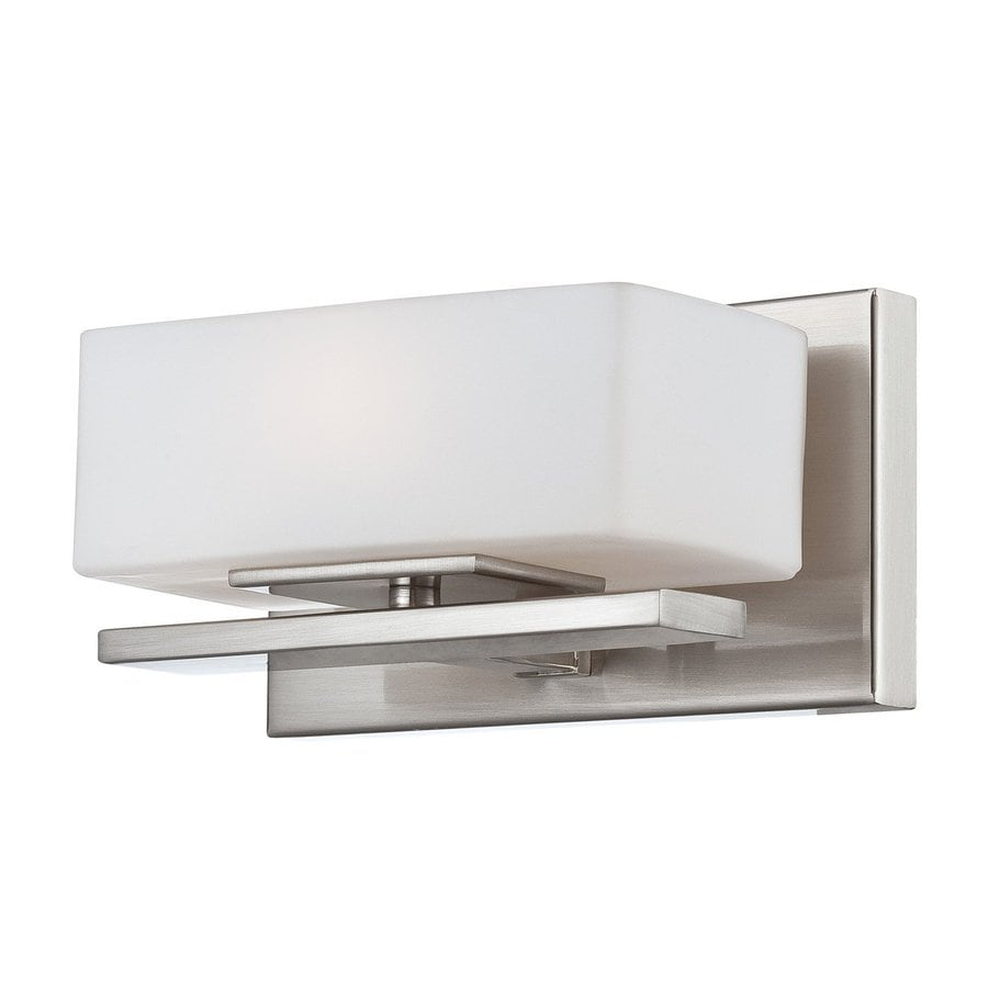 Designer's Fountain Meridian 8-in W 1-Light Satin Platinum Pocket Wall Sconce
