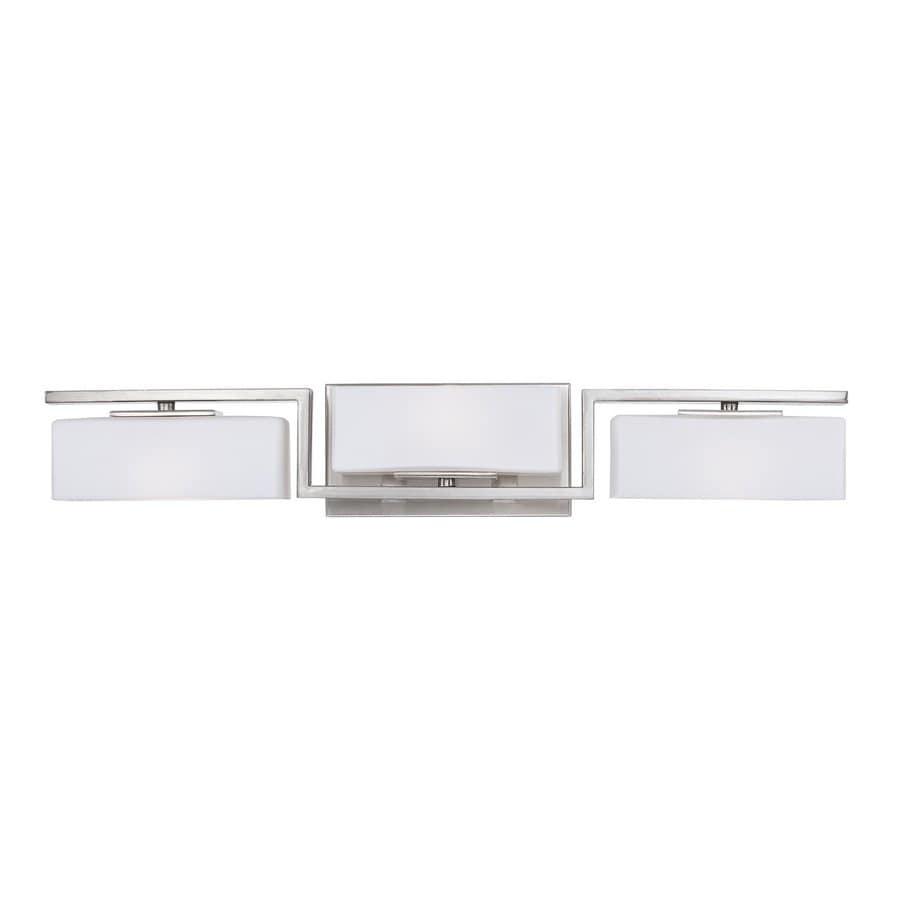 Designer's Fountain Meridian 3-Light 4.25-in Satin Platinum Rectangle Vanity Light