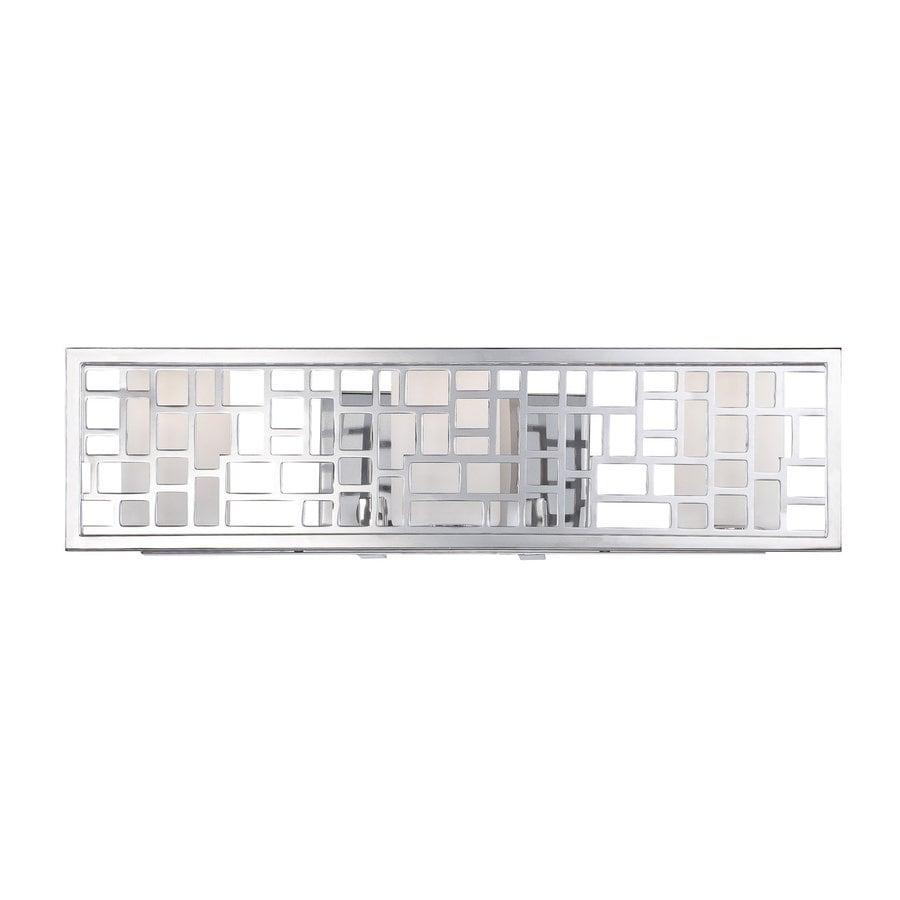Designer's Fountain Trellis 3-Light Chrome Rectangle Vanity Light Bar