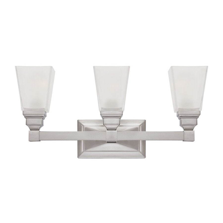 Designer's Fountain Trenton 3-Light Satin Nickel Vanity Light