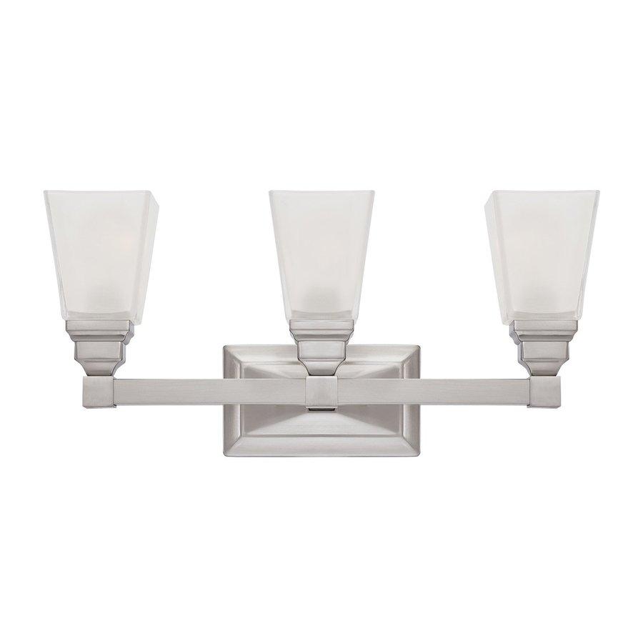 Designer's Fountain Trenton 3-Light 9.75-in Satin Nickel Rectangle Vanity Light