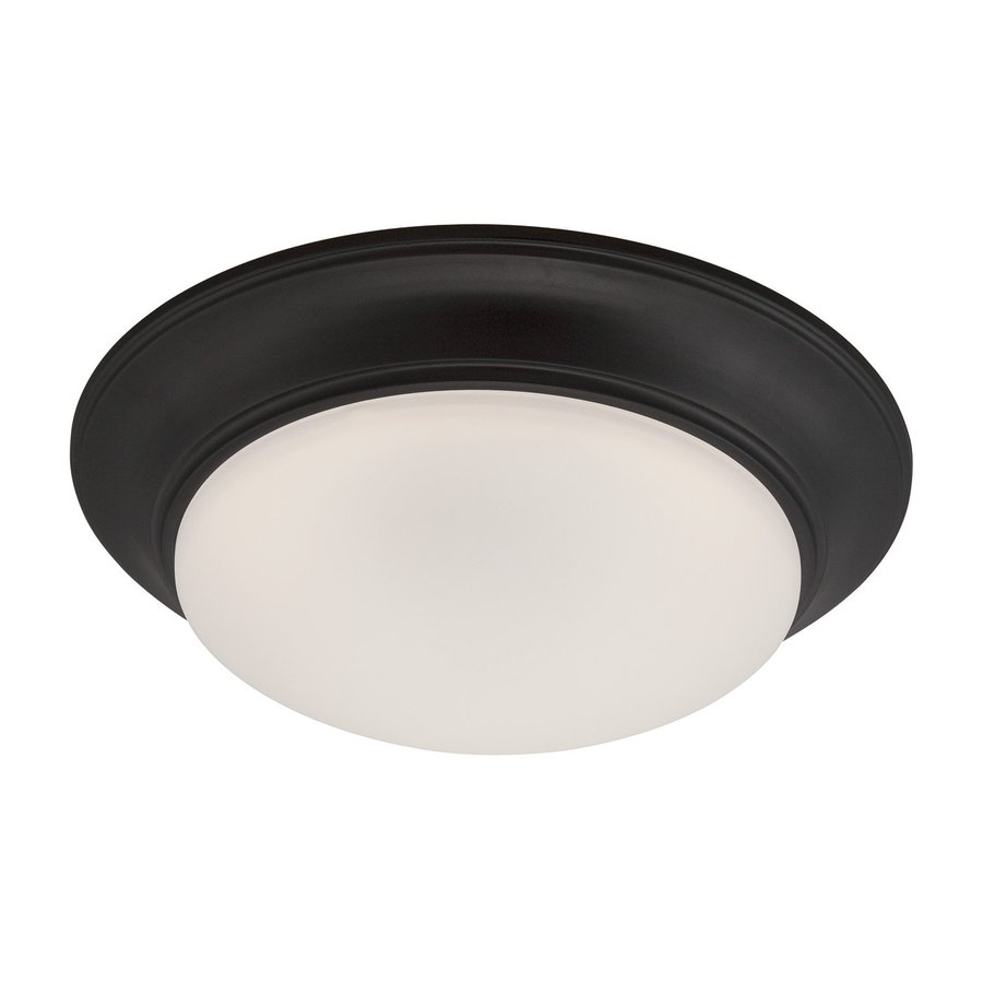 Designer's Fountain Halo 11-in W Oil Rubbed Bronze LED Ceiling Flush Mount Light