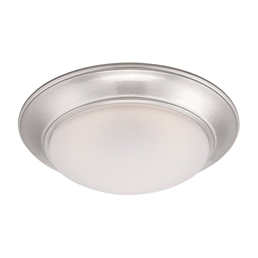 Designer's Fountain Halo 11-in W Satin Platinum LED Ceiling Flush Mount Light