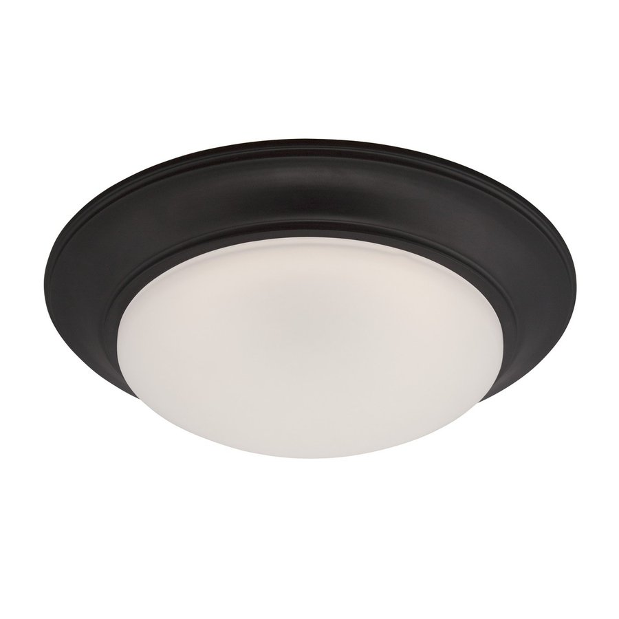 Designer's Fountain Halo 13.25-in W Oil Rubbed Bronze LED Ceiling Flush Mount Light