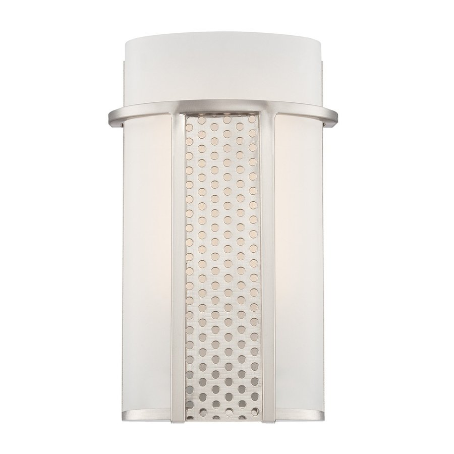 Designer's Fountain Lucern 6.5-in W 1-Light Satin Platinum Pocket Wall Sconce