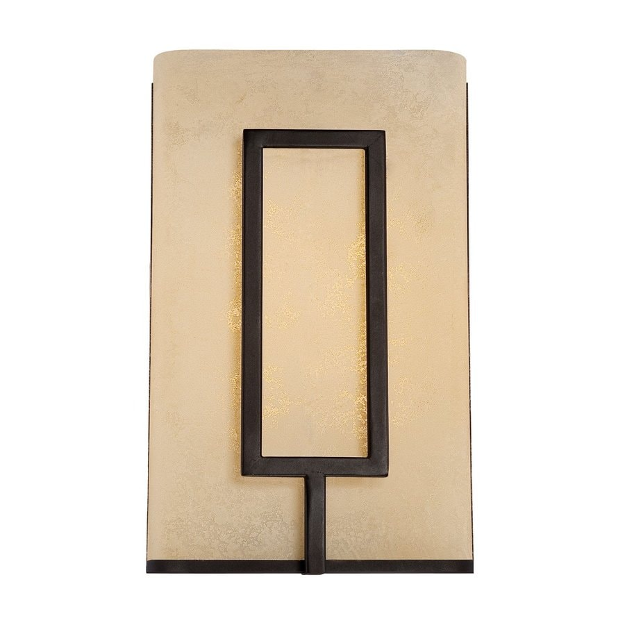 Designer's Fountain Regatta 5-in W 1-Light Burnished Bronze Pocket Wall Sconce